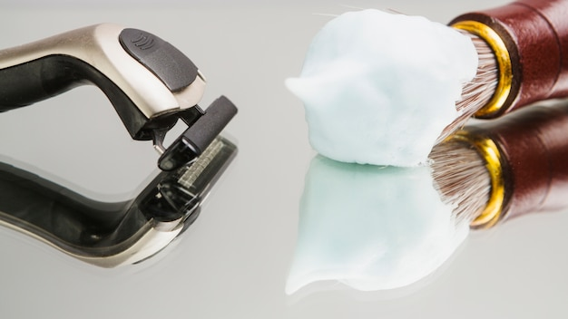 Composition of shaving objects