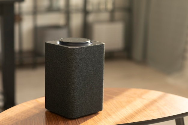 Composition of smart speaker on the table