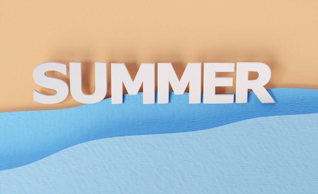 Composition of summer still life elements