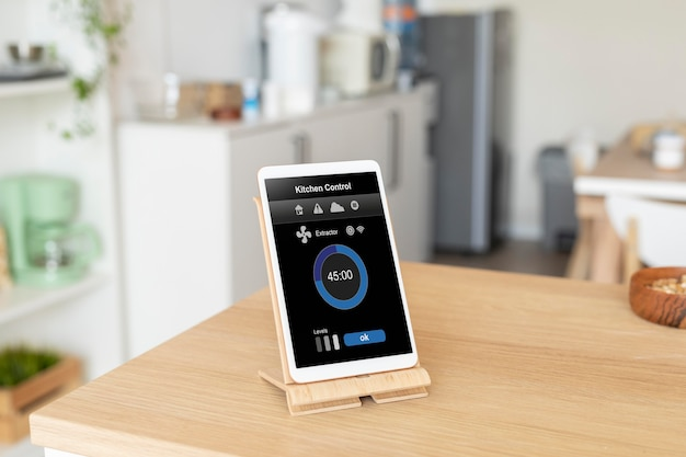 Composition of tablet with home automation app