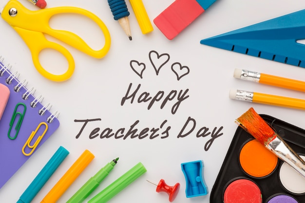 Composition of teacher's day elements