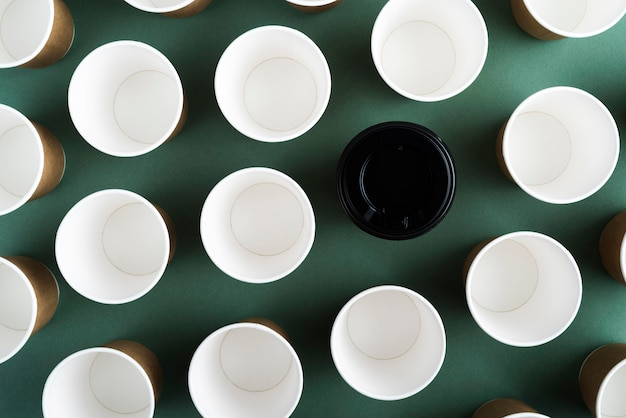 Composition of wasteful disposable tableware
