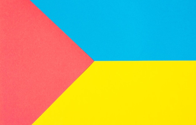 Composition with blue, yellow and red triangle