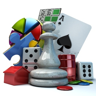 さまざまなゲーム要素を使用した構成