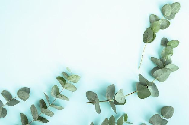 Композиция с зелеными листьями