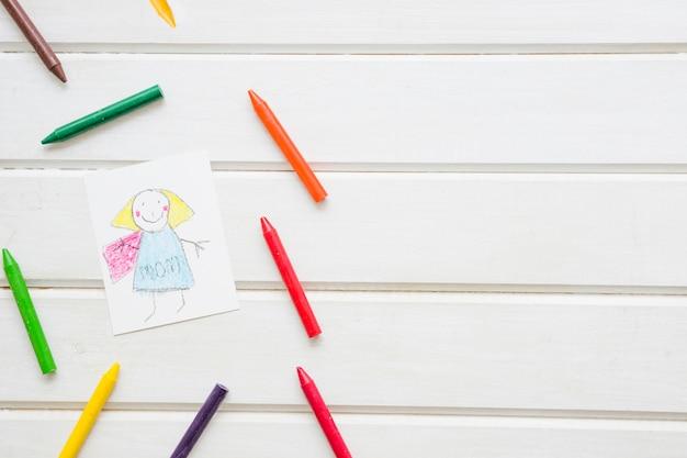Композиция с рисунками для детей