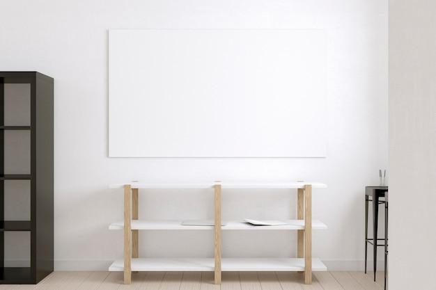 棚と白い帆布で構成