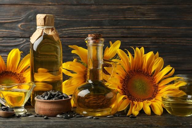 ひまわり、油、種子の組成