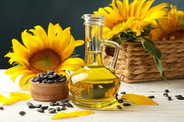 ヒマワリ、種子、油の組成