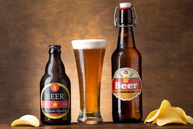 Composizione con gustosa birra americana