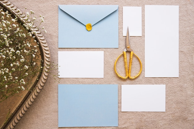 Composition with vintage accessories from above