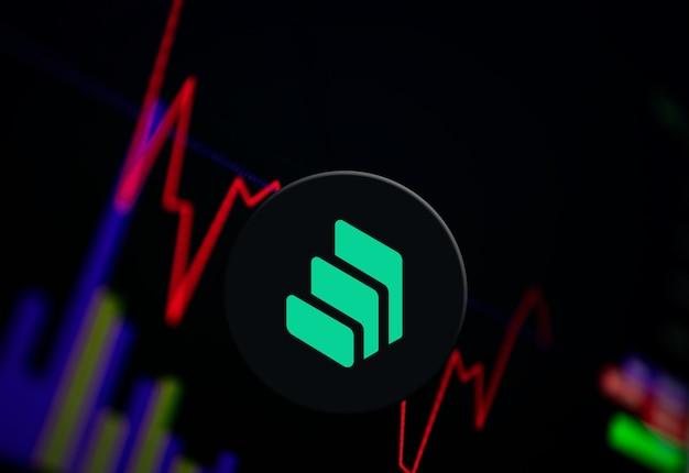 交換チャート上の複合コンプ暗号通貨コイン成長チャート