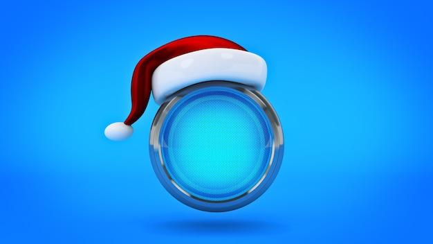 コンピューターボタンのコンセプトメリークリスマス3dレンダリング