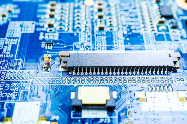 Computer circuit cpu main board electronics device : concept of hardware and technology.