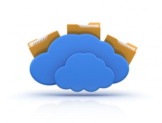 Папка «компьютер» с облачными вычислениями