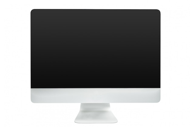 Computer isolated on white background