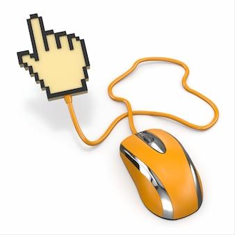 Компьютерная мышь и курсор. 3d