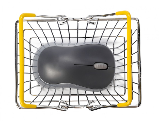 Computer mouse and shopping basket