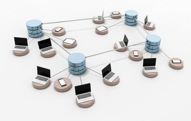コンピュータネットワークの図