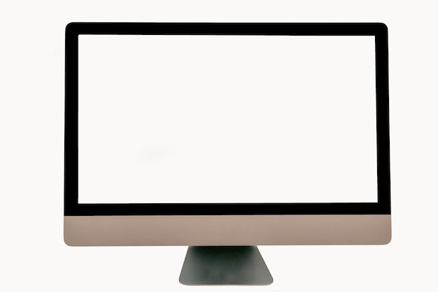 Computer screen display isolated on white background