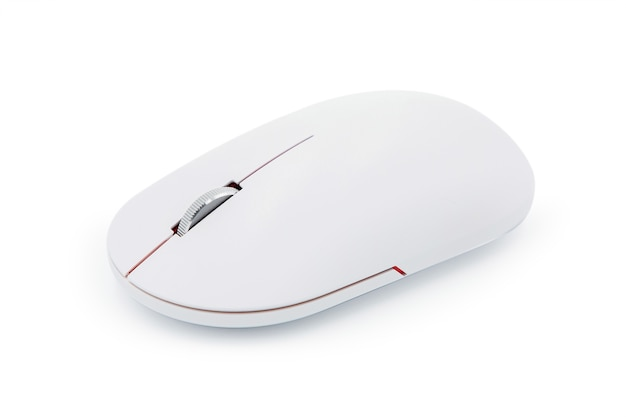 Computer wireless mouse isolated on white background