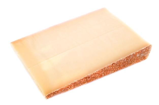 Comte cheese on white