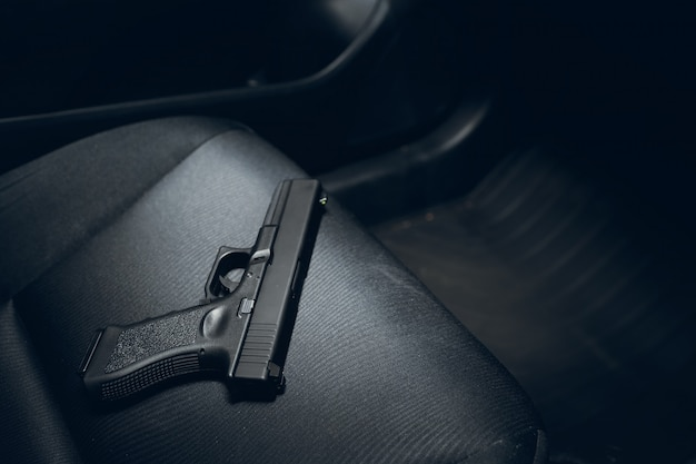 Concealed gun in car