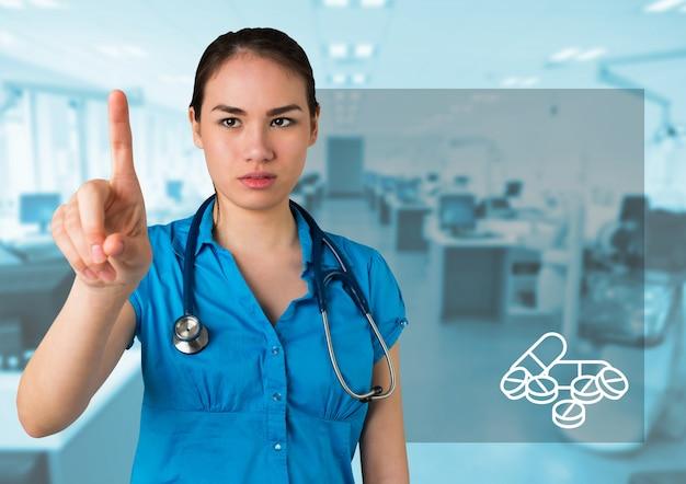 Концентрированный красивый больница медицинского здравоохранения