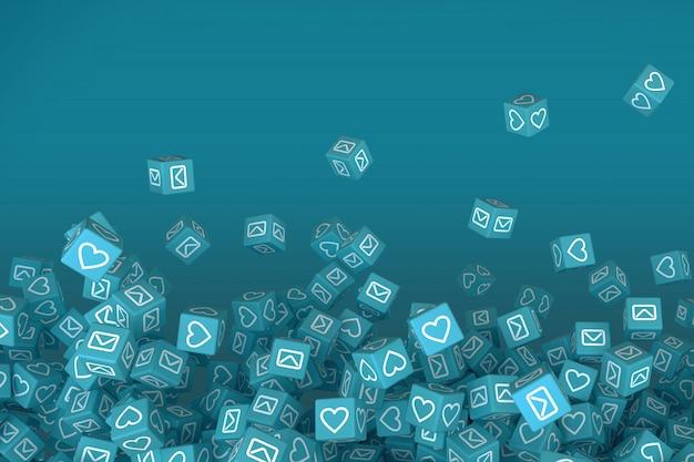 ソーシャルネットワークのコンセプトアート