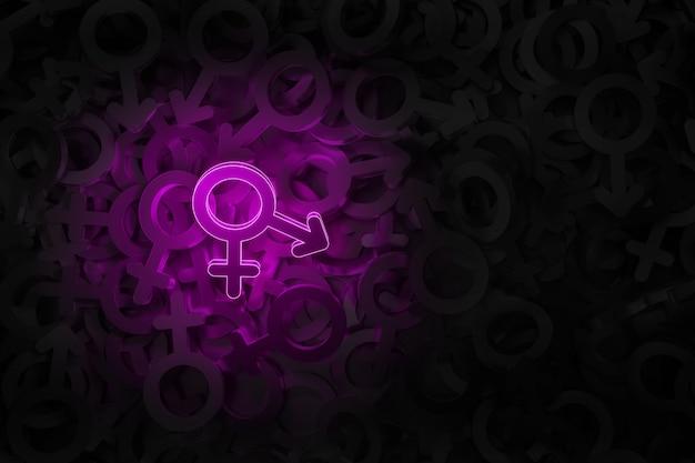Concept art on the theme of transgender