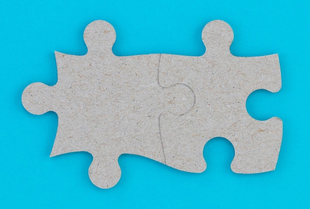 Concept of business teamwork and integration with puzzle.