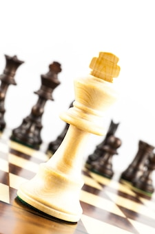 Concept for challange with elegant stauton style chess pieces