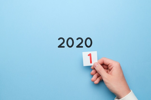Concept of changes of the year from 2020 to 2021.