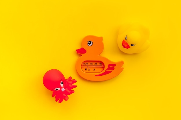 The concept of children bath toys
