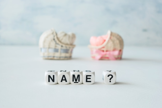 Concept of choosing baby name