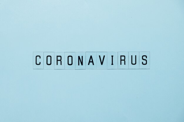 Concept coronavirus. prevent or stop the spread of the covid-19 worldwide. letters