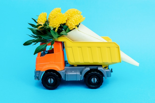 Concept of delivering flowers and plants