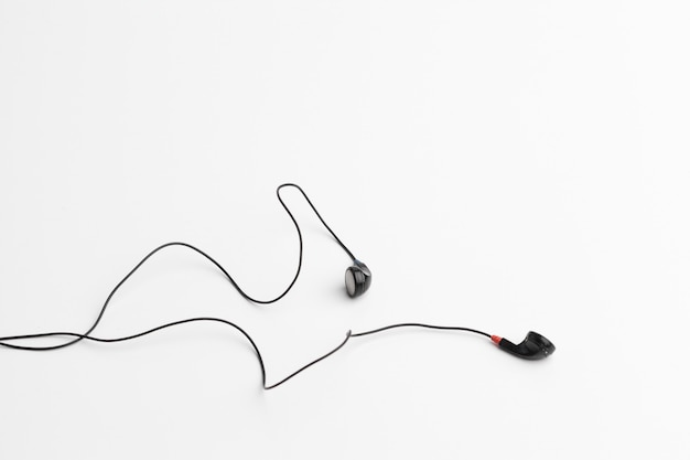 Concept of digital music headphones isolated