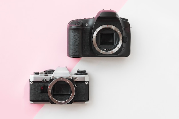 Concept - digital vs. analog slr camera