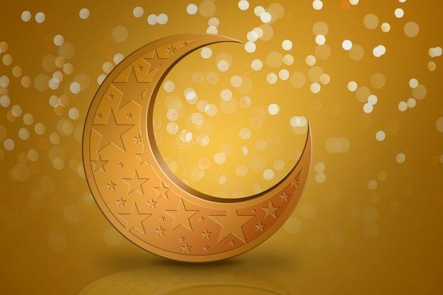 Concept for eid mubarak and ramdan