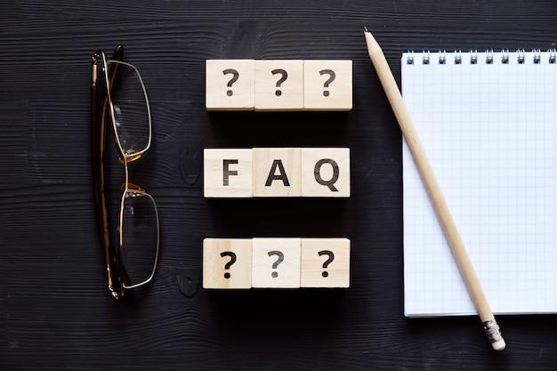 Концепция faq по основным вопросам на общие темы.