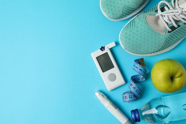 Concept of a healthy diabetic. sports diabetic