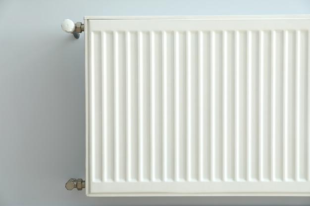 Concept of heating season indoor with radiator.