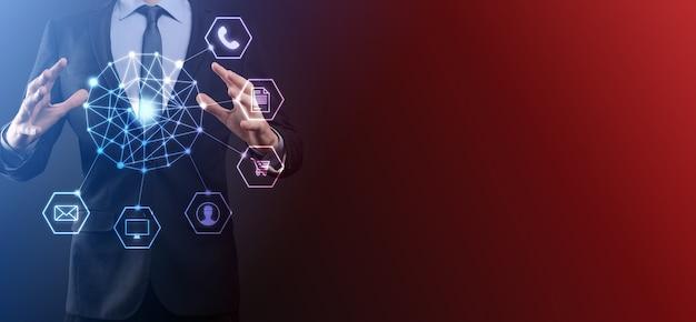 Concept of hi tech and big data