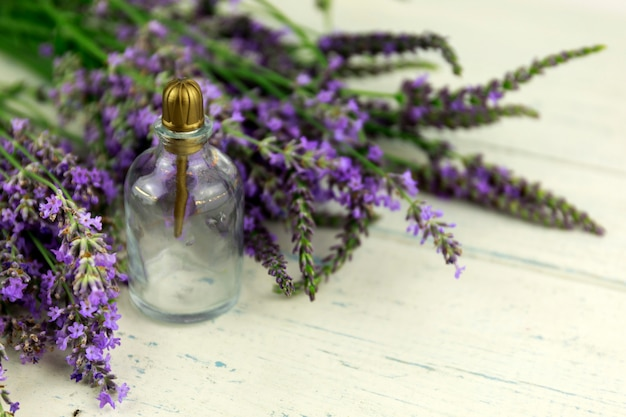 The concept of home comfort with lavender.