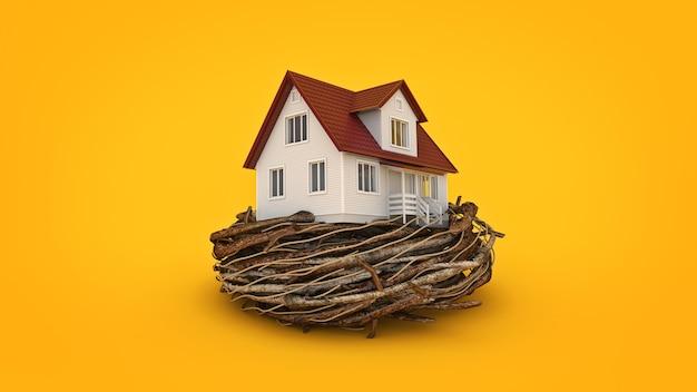 コンセプト住宅投資3dレンダリング