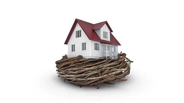 コンセプト住宅投資3dレンダリング Premium写真