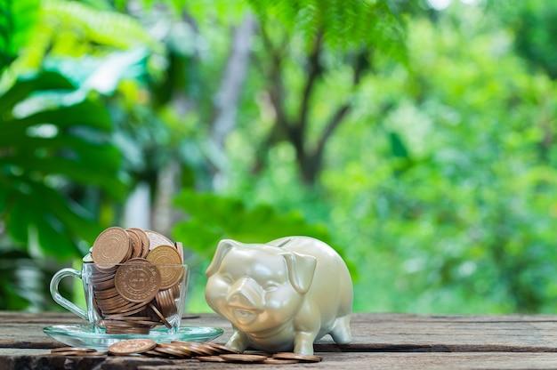 Концепция, инвестиции, акции, экономия денег, финансовый рост