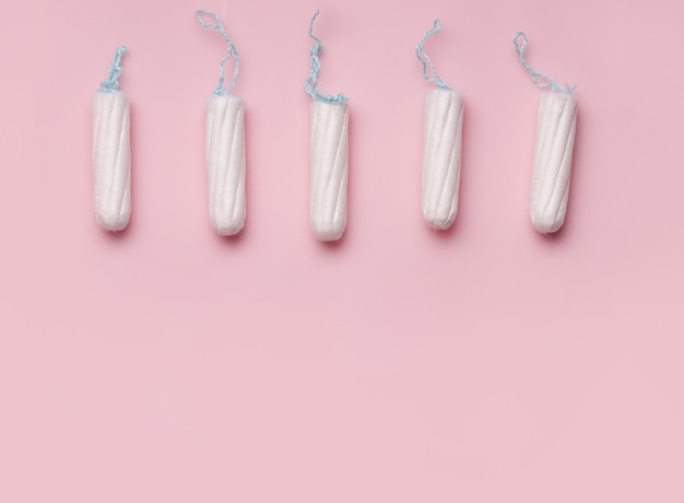 The concept of the menstrual cycle in women. tampons.