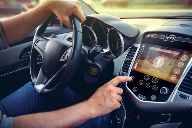 Concept of modern car dashboard